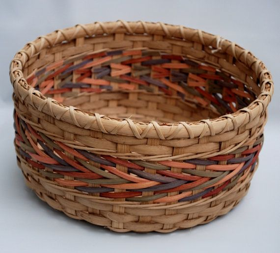 Round Arrow Weave Handmade Basket for Spring by ClaireSwanson, $40.00