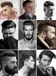penteado masculino com alto brilho