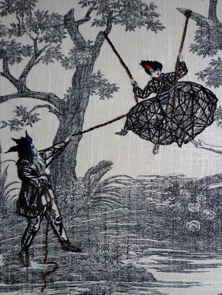 Historically Inaccurate: Gutter, Goth & Westwood :: Embroidery used to enhance a printed fabric.