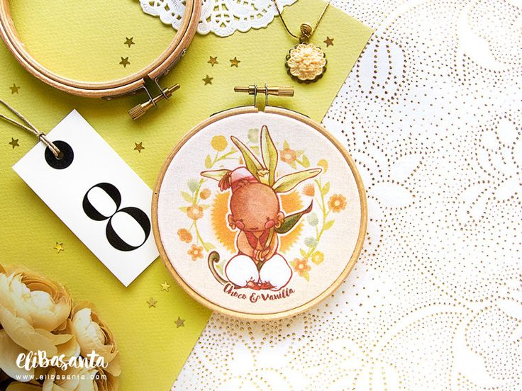 CHOCO & VANILLA - Print Embroidery Hoop Frame