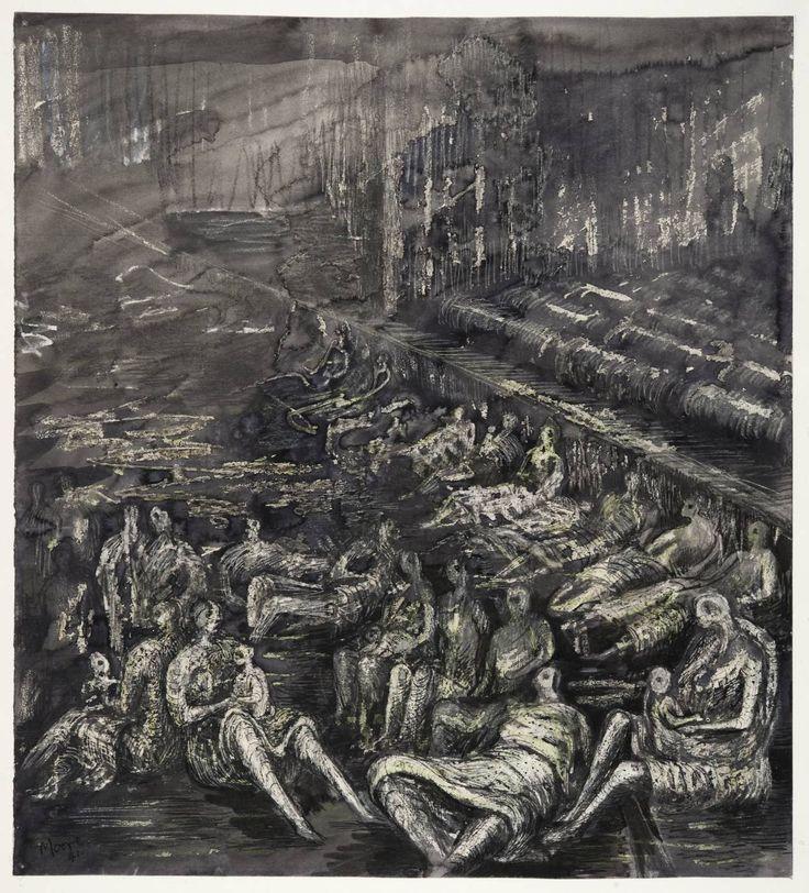 Henry Moore , 'A Tilbury Shelter Scene' 1941