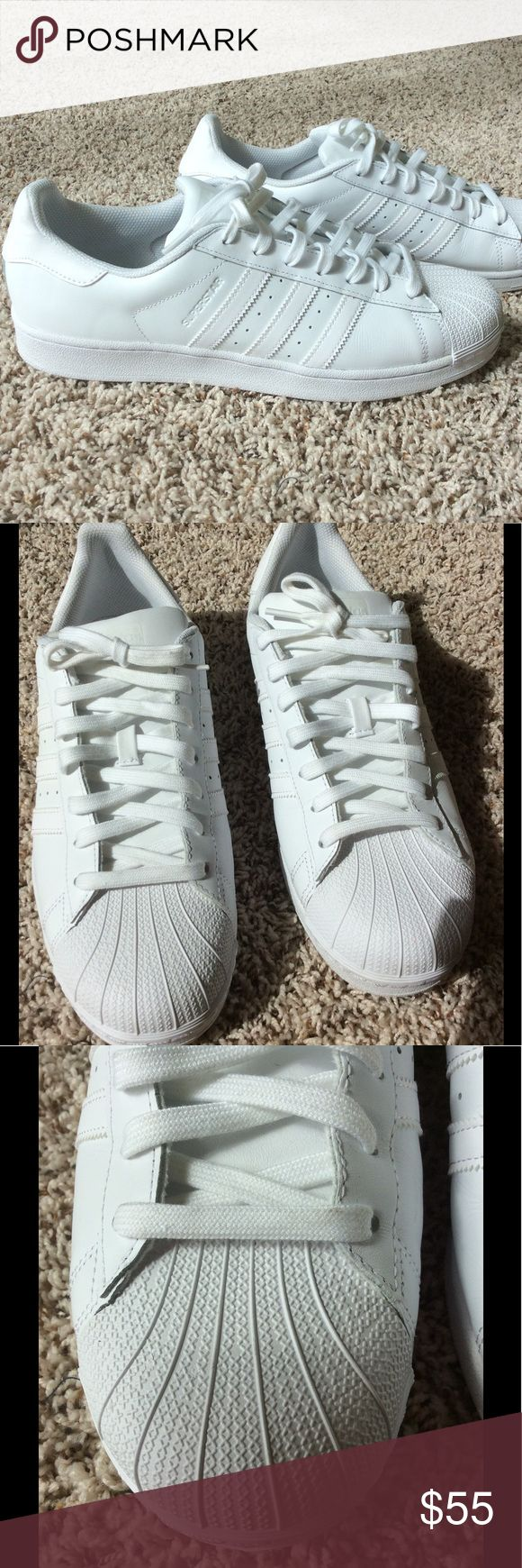 👟 Adidas Superstar Shell Toe Sneakers All white. Great condition. One small scuff. No box. adidas Shoes Sneakers