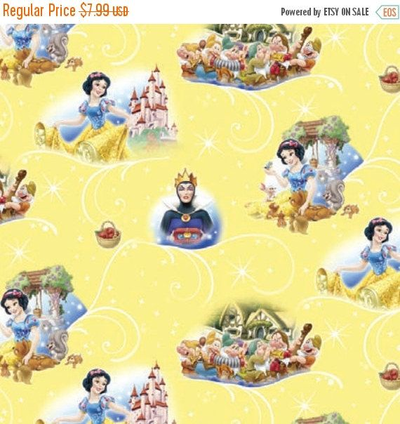 CLEARANCE Disney Snow White Fabric Seven by TheCalicoCatFabrics