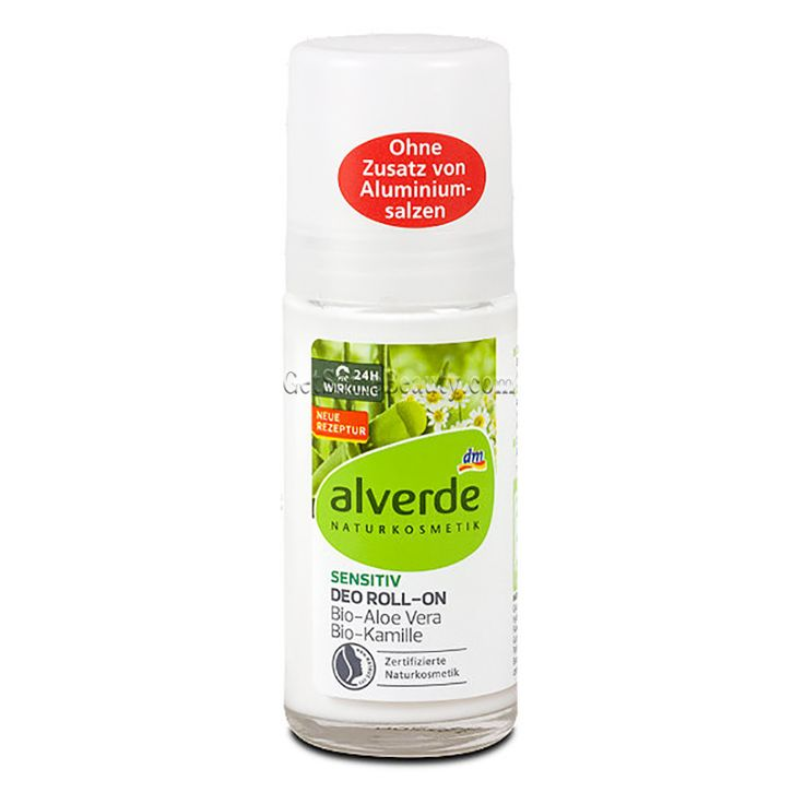 ALVERDE Natural Cosmetics Sensitive Deodorant Roll-On Organic Aloe Vera & Chamomile 50 ml | Get Some Beauty