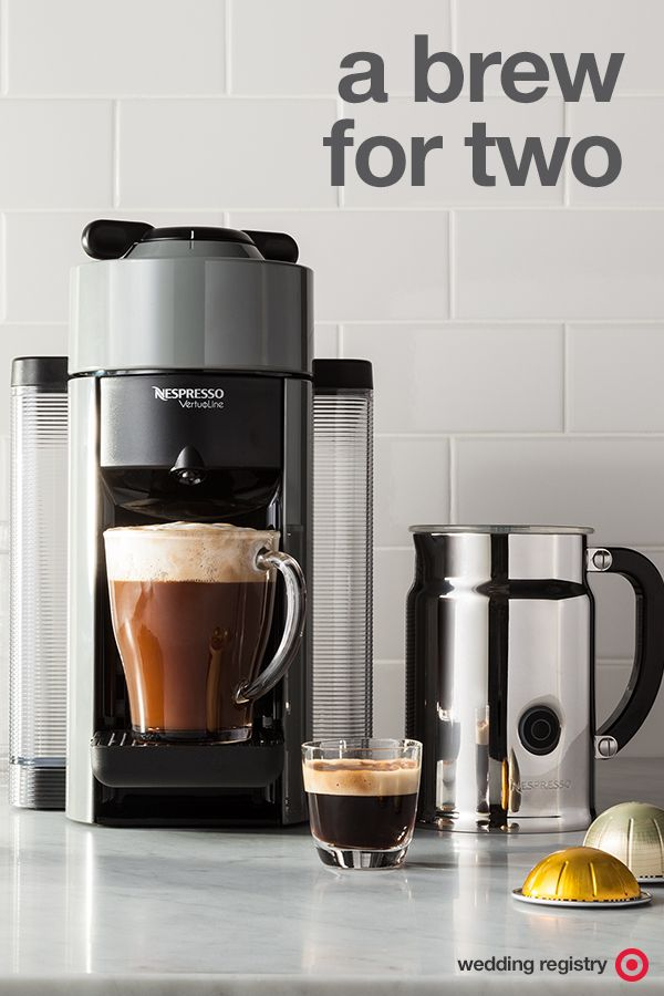 The Nespresso VertuoLine Evoluo Espresso & Coffee Machine is a wedding registry must for caffeine lovers. It heats up within 15 seconds for a delicious double shot, instantly. It also comes with an Aeroccino + Milk Frother for easy lattes and cappuccinos. It's a total stay-at home coffee date for the win.