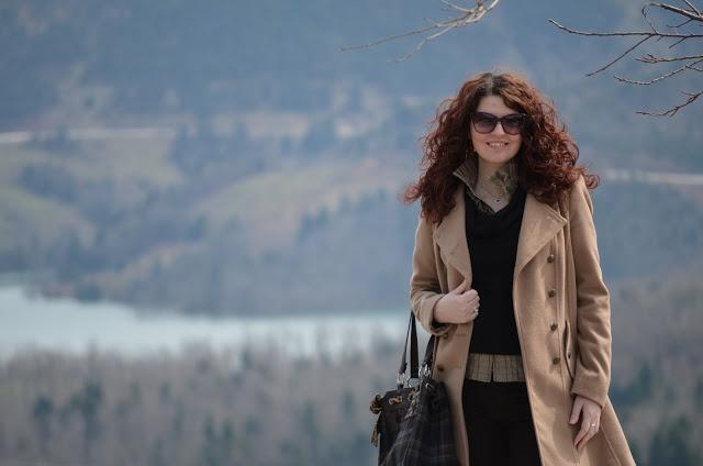 my friend Katerina in Limni Plastira