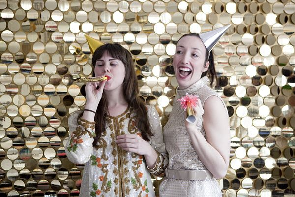 Make your own sequin photo booth backdrop with this DIY tutorial on Oh Happy Day. The perk of using sequins is they're forgiving of your flaws if your lines aren't perfectly straight. Sparkle in the new year with this sequin DIY!