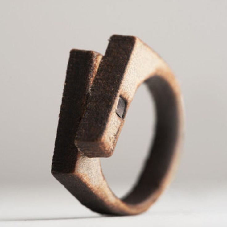 leather ring, made by Sruli Recht
