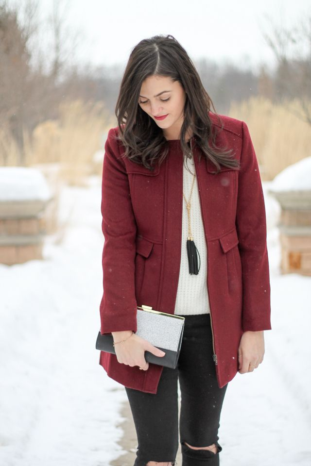 Burgundy Coat - Style Of Living