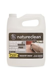 Naturally remove your tough outdoor stains... even oil! This clearner removes dirt, oil, grease and grime from driveways, concretem paved asphalt and more. Works great with a pressure washer or manually.
