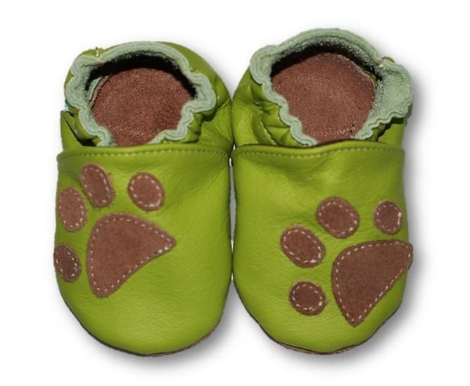 ekoTuptusie Łapki zieleń Soft Sole Shoes Paws Green Les chaussures pour enfants Krabbelshuhe https://www.fiorino.eu/