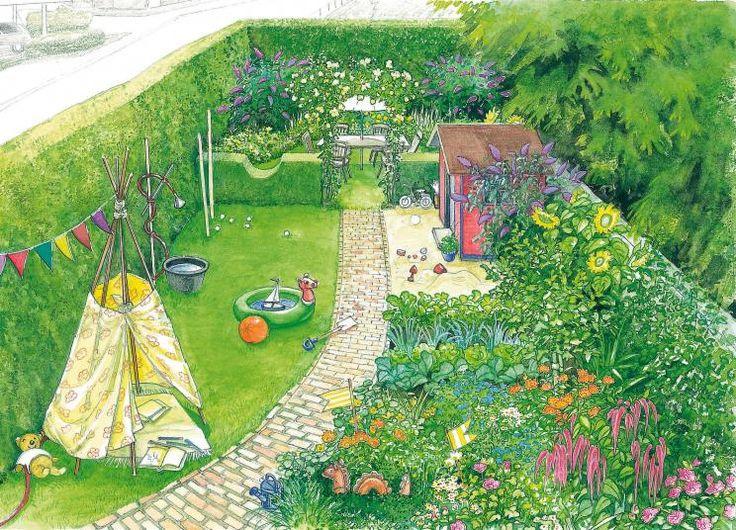 153 besten Reihenhaus Garten Bilder auf Pinterest Garten - garten gestalten vorher nachher