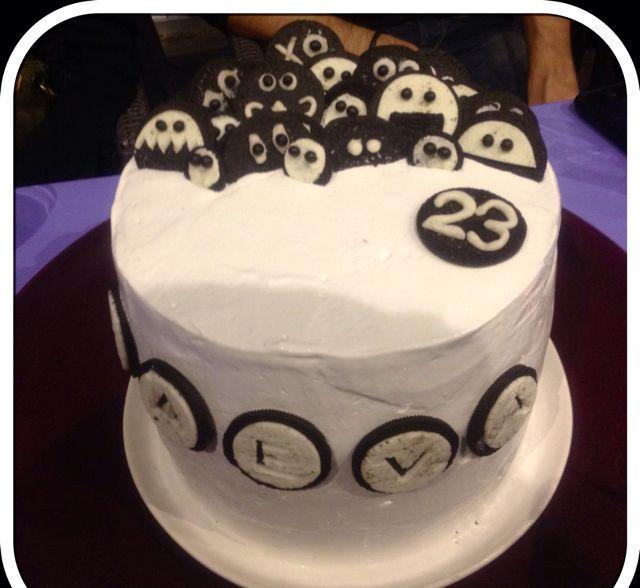 Gâteau d'anniversaire aux Oréos.