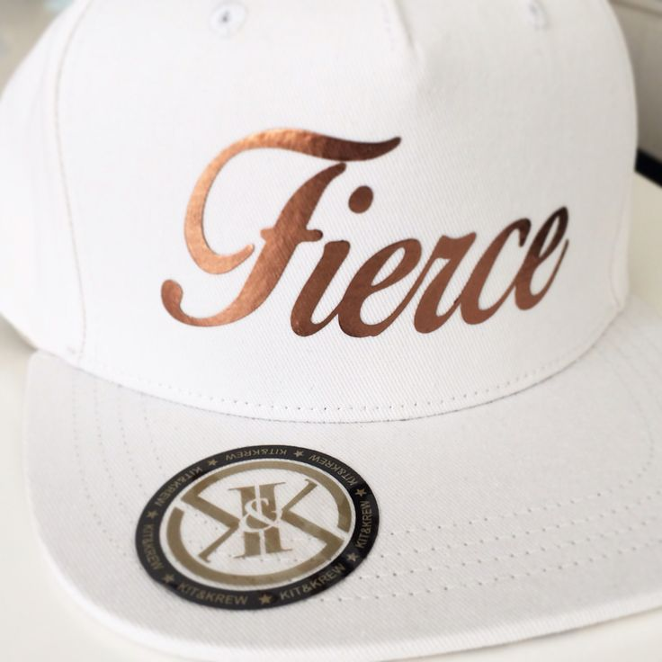 Although she is little she is Fierce! Rose Gold font. Purchase at www.kitandkrew.com