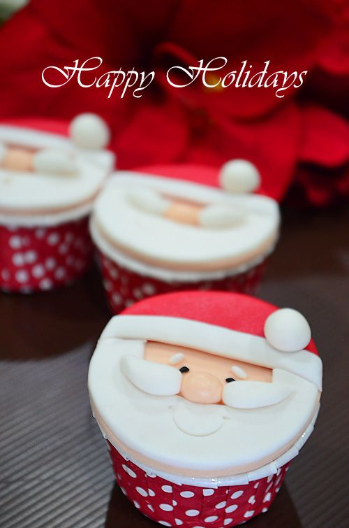 Cupcake Decorating Ideas Step By Step : 25+ best ideas about Santa Cupcakes on Pinterest ...