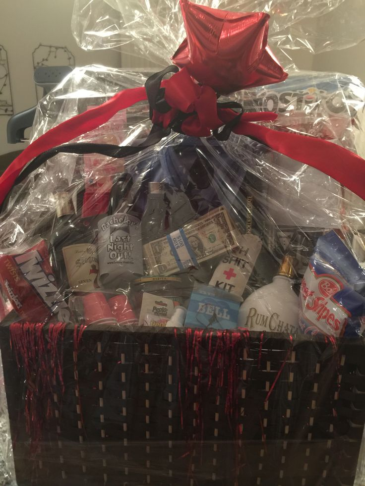 Bachelor weekend gift basket for the Groom from the Bride