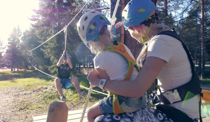 Arctic Adventure Park Huima is now open for 2016 season! Huima has 10 different courses, up to 7 meters above ground!