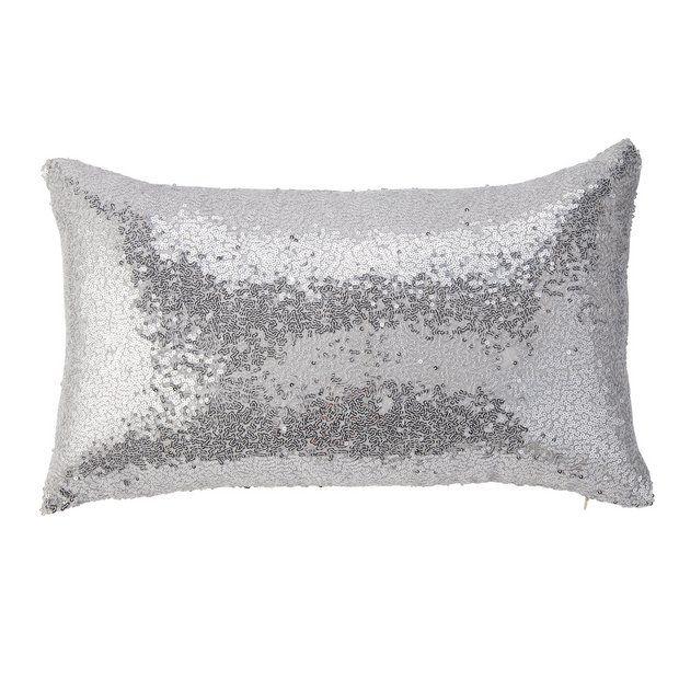 Buy Argos Home Sequin Cushion Silver Cushions Argos Sequin Cushion Silver Cushions Argos Home