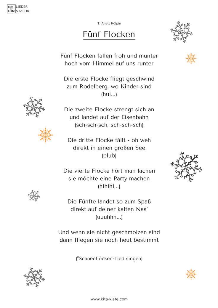 Schneeflocken-Fingerspiel für Kita & Krippe - Sprachförderung mit Spaß - Shop: www.kita-kiste.com