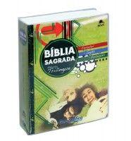 Biblia Sagrada Trilíngue Espanho/Inglês/Português (Capa verde)