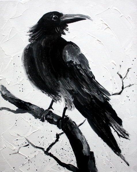 Crow Painting, Origina...