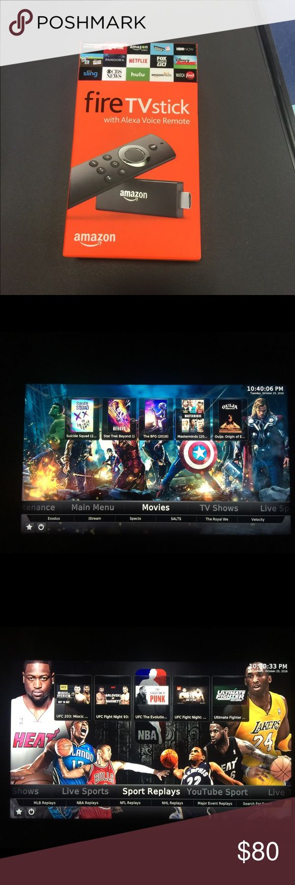 Fire stick unlocked fully loaded Unlocked  Never pay cable again Free live tv. Tv shows. Movies. UFC. Sports.   Only need hdmi port and internet.  Brand new fire stick. Just open to programed. amazon Other