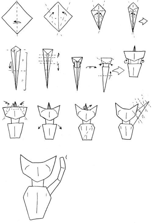 origami de gatos