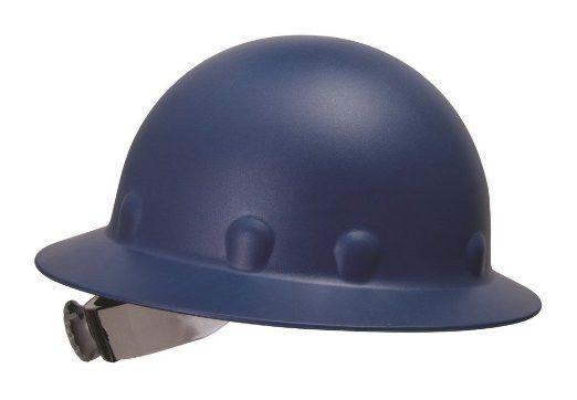 Fibre Metal P1 Roughneck Full Brim Fiberglass Hard Hat, Ratchet Suspension-Blue