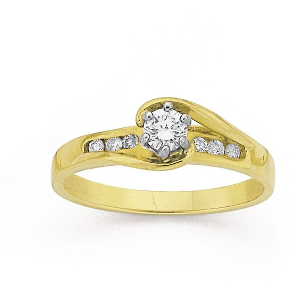 9ct Gold Diamond Engagement Ring