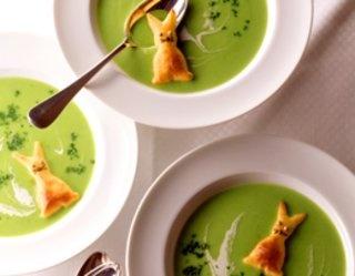 Co za zieleń! #Zupa grochowa z ciasteczkami serowymi