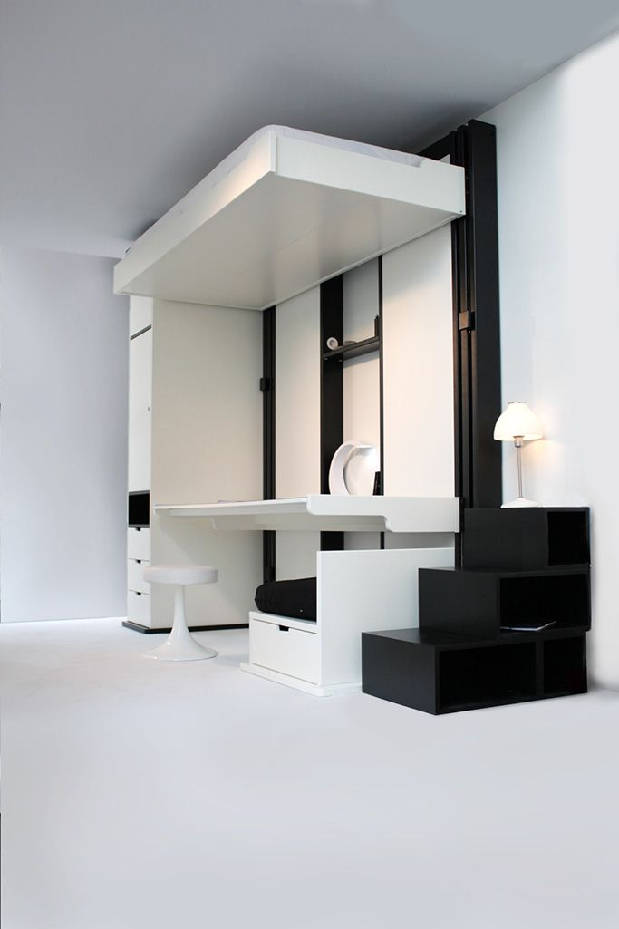 great design working at home espace loggia triptych bed. Black Bedroom Furniture Sets. Home Design Ideas