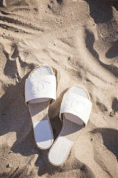 Summer slippers, Chanel, beach, sunny day