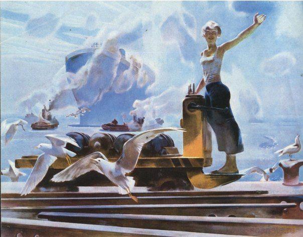 Марушкин Олег Павлович (род. 1938). Черноморочка 1979г. Marushkin Oleg - Chernomorets