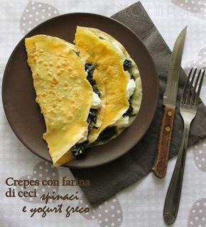 Parole in Padella: Crepes ai ceci con spinaci e yogurt greco