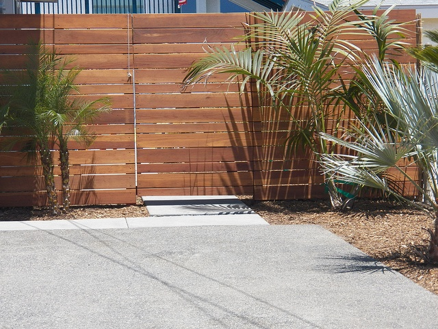 Fence And Gate Modern Horizontal Planks Design Mid