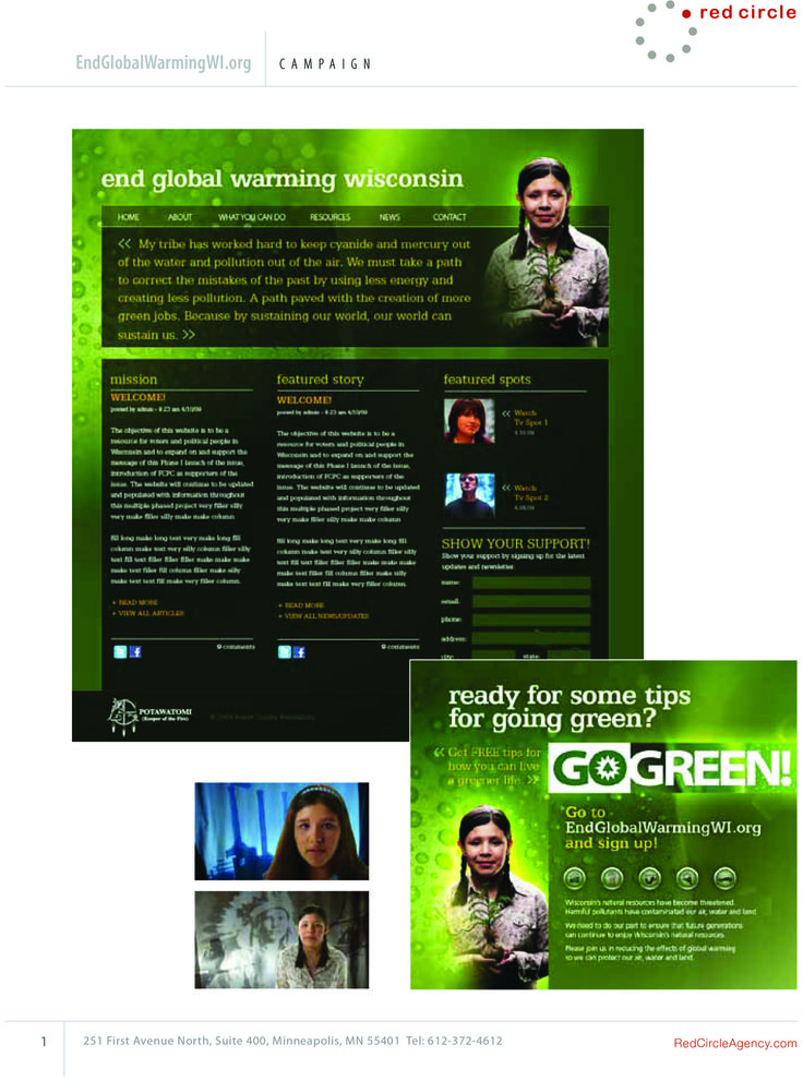 Go Green End Global Warming Wisconsin Campaign Global