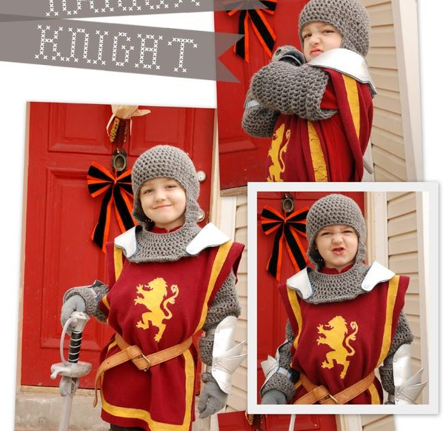 I finished the knight costume and I have to say it turned out awesome!! Alex loves it! I cut the tunic out of fleece and did a freezer pap...