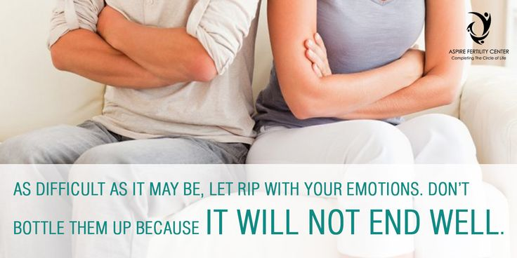 As difficult as it may be, let rip with your emotions. Don't bottle them up because it will not end well. Making the right choice - Aspire Fertility Center  For More Info: http://www.aspirefertility.in/ Contact Us: 080 - 25722555 Mail ID: aspirefertility@gmail.com