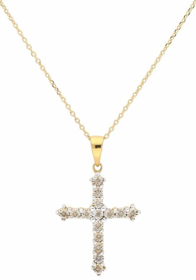 Firetti Kreuzkette Mit Diamanten Halskette Mit