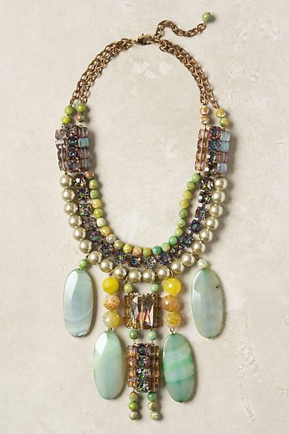 Icterina Bib Necklace by Lower East Side Designer and Milliner James Coviello.
