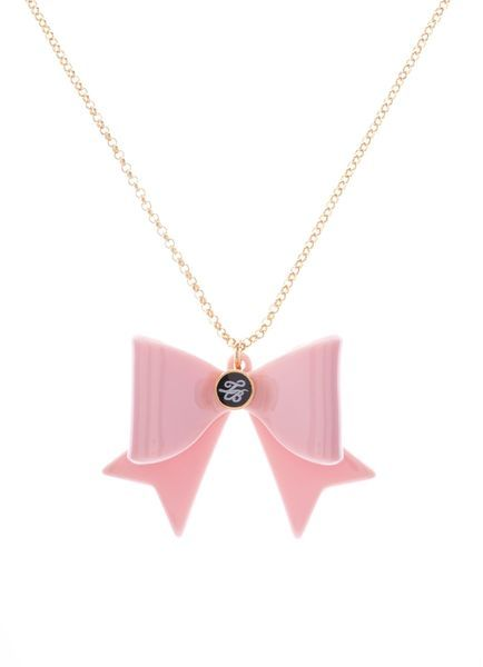 Ted Baker Aolanee Acrylic Nude Pink Bow Pendant - Lyst
