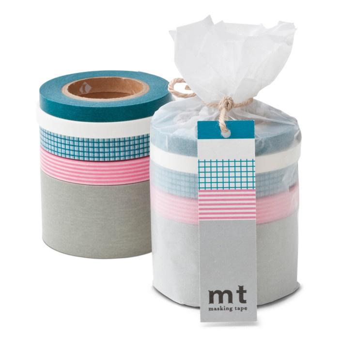 Papierklebeband, 5er-Set Blau / Grau | Schreibgerät, Papier, Bürotechnik
