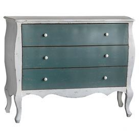 Teal Decor, Teal Design Ideas, Teal Accessories, How to Pair Teal, Teal Furniture, Joss & Main Teal Chest, French-Regency Chest Drawers