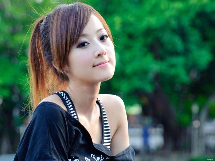 Азиатская Красота Красивая Девушка Портрет Искусство Огромный Печати Плаката TXHOME D4265