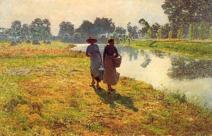 The Athenaeum - Young Peasant Women at the Lys River (Emil Claus - )
