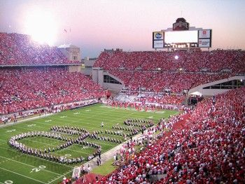 """The Ohio State University's historic stadium.... """"The Best Damn Band in the Land"""" performing """"Script Ohio"""".... a crisp Saturday afternoon in the Fall!"""