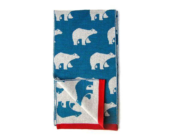Blauwe sjaal met ijsberen Alaska afdrukken door Olula  door olula