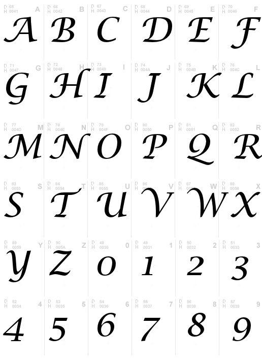 Lucida Calligraphy Italic Calligraphy Pinterest