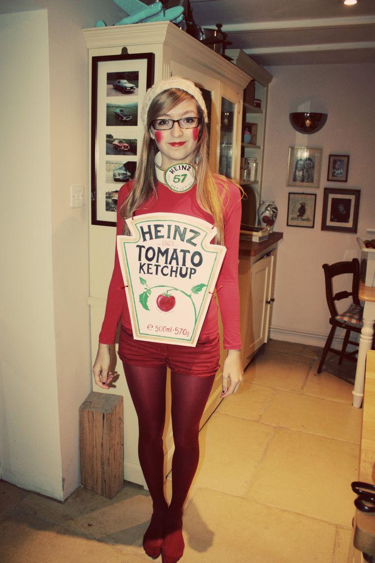 DIY ketchup bottle costume