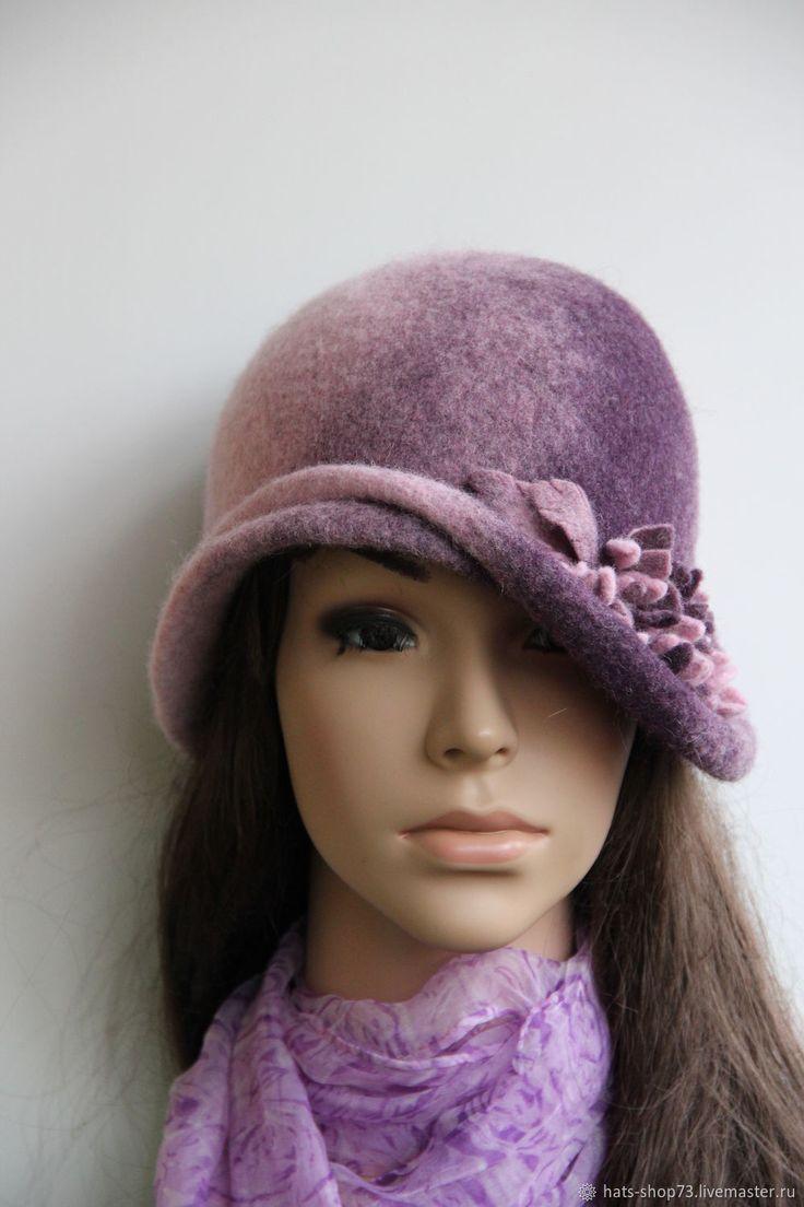 Купить Шляпка валяная Лиловый закат в интернет магазине на Ярмарке Мастеров